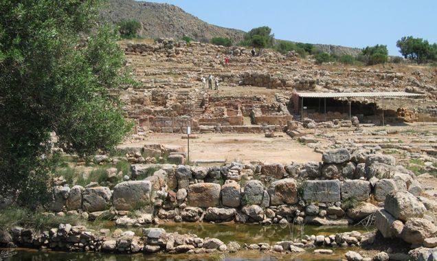 Minoan Palace In Kato Zakros