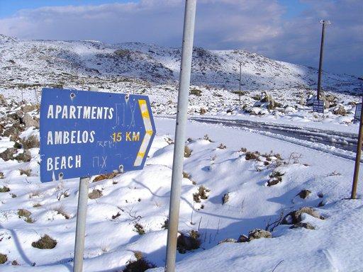 Xerokambos area in winter