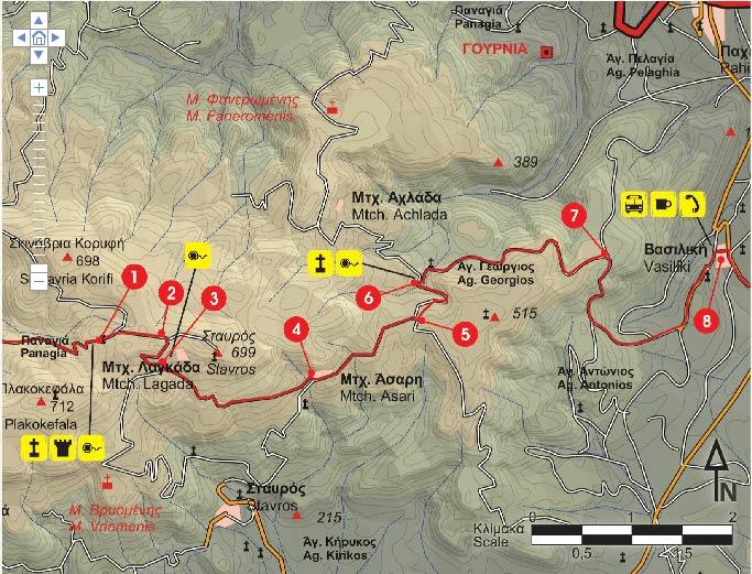 Vasiliki village – e4 hiking path